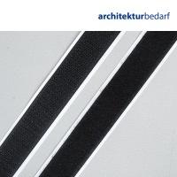 Klettstreifen selbstklebend 20 mm x 0,5 m schwarz