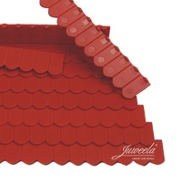 Plain Tile Round Cut, brick red