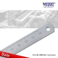Stahlmaßstab 1,0 x 30 x 600 mm