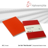 Skizzenheft Sketch & Note, Red Bundle A3 hoch