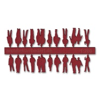 Figures, 1:200, dark red