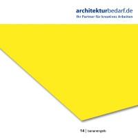 Tonzeichenpapier 50 x 70 cm, 14 bananengelb