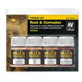 Vallejo Pigment Set Rust & Corrosion, 4er Pack
