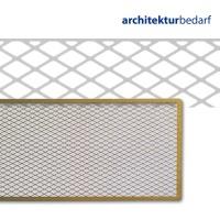 Diagonallochblech Messing 4,5 x 30 cm