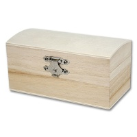 Wooden Box with convex Cover