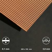 Kupfer-Wellblech, Welle 3 mm