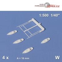 4 Segelboote, weiß, Schulcz 04-0161, 16 mm