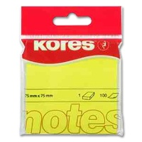 Sticky Notes Kores neon yellow