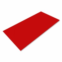 Polystyrolplatte rot