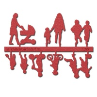 Figure Set Children, 1:50, light red