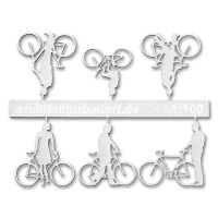 Bicycles with Cyclists, 1:100, white