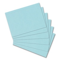 Index Cards, DIN A5, ruled, blue