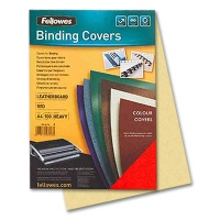 Fellowes Cover Sheets Leather Structure, yellow