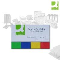 Q-Connect Haftnotizen Transparent