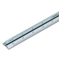 Aludreikantmaßstab 10 cm