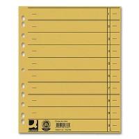 Dividers A4 Overwidth, yellow