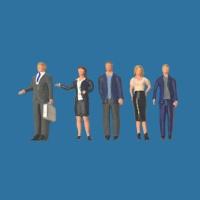 Modellfiguren 1:100 stehend, Geschäftsleute