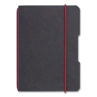 Notebook flex Leather Look, A6 checked