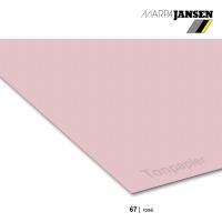 Tonzeichenpapier 130g/m² 70x100cm - 67 rosé