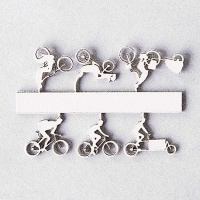 Bicycles Type 2, 1:200, white