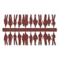 Figures, 1:100, dark red