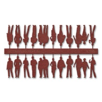 Figures, 1:100, dark red