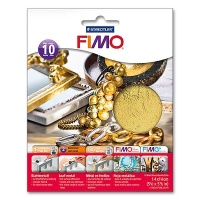 Fimo Leaf Metal Gold, 10 Sheets