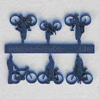Bicycles with Cyclists, 1:200, darkblue