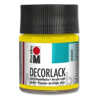 Deco Varnish Acrylic, glossy, No. 019 yellow