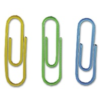 Durable Paper Clips, plastic coated, 26 mm