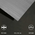 Corrugated Sheet Aluminium, Wave 2 mm