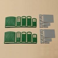 Tore und Türen grün, Stufen, Rampen