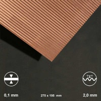 Kupfer-Wellblech, Welle 2 mm