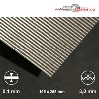 Aluminium-Wellblech, Welle 3 mm