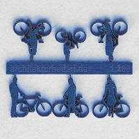 Bicycles with Cyclists, 1:200, blue