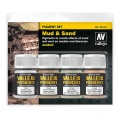 Vallejo Pigment Set Mud & Sand, 4er Pack