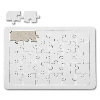 Puzzle A5, white, for DIY Fans