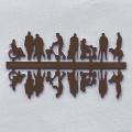 Figures Senior Citizens, 1:100, dark brown