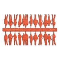 Figuren, 1:100, orange