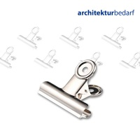 Briefklemmer Bulldog vernickelt 20 mm