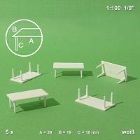 Tisch 1:50 mit 4 Beinen, 5er Pack