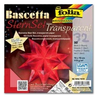 Craft Kit Bascetta Star red transparent