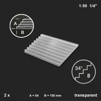 Treppenplatte 34°, transparent, 1:50