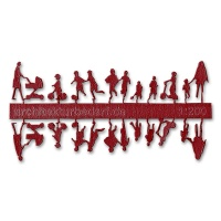 Figure Set Children, 1:200, dark red