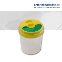 Wasserbecher, transparent, gelb