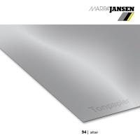 Tonzeichenpapier 130g/m² DIN A4, 94 silber