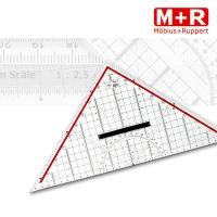 M+R Zeichendreieck 32 cm mit Griff