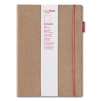 SenseBook RED RUBBER large, plain - 205 x 285 mm