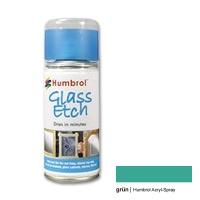 Humbrol Acrylic Spray, Glass Effect, green