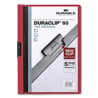 Klemmmappe Duraclip 60 - A4 rot